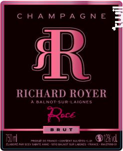 Brut Rosé - Champagne Richard Royer - Non millésimé - Effervescent