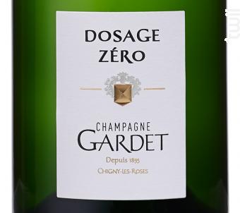 DOSAGE ZÉRO - Champagne Gardet - Non millésimé - Effervescent