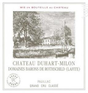 Château Duhart Milon - Domaines Barons de Rothschild - Château Duhart-Milon - 2015 - Rouge