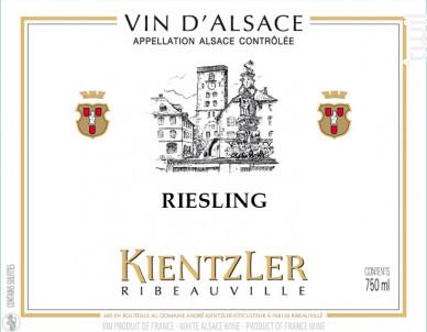 Riesling - André Kientzler Earl - 2013 - Blanc