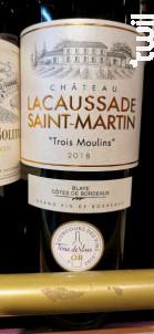 Trois Moulins - Château Lacaussade Saint-Martin - 2018 - Rouge