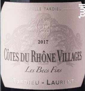 Les Becs Fins - Maison Tardieu Laurent - 2017 - Rouge