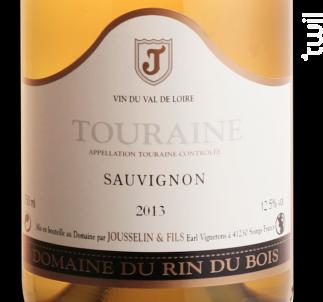 Sauvignon - Domaine du Rin du Bois - 2018 - Blanc