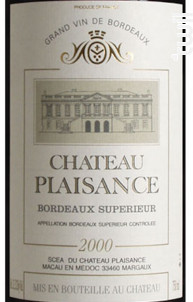 Château Plaisance - Bordeaux supérieur - Famille Ducourt - Château Plaisance - 2006 - Rouge