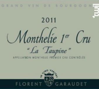 MONTHELIE 1er cru La Taupine - Domaine Florent Garaudet - 2016 - Rouge