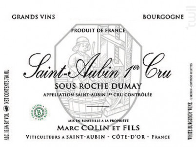 Saint-Aubin Premier Cru Sous Roche Dumay - Domaine Marc Colin et Fils - 2018 - Blanc