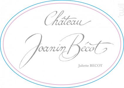CHÂTEAU JOANIN BECOT - Juliette Bécot - 2015 - Rouge