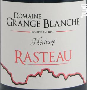 Héritage - DOMAINE GRANGE BLANCHE - 2016 - Rouge