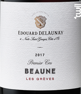 Beaune 1er Cru Les Grèves - Edouard Delaunay - 2018 - Rouge