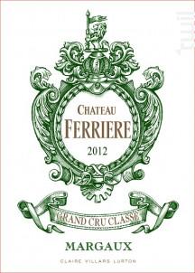 Château Ferrière - Domaines Claire Villars Lurton - Château Ferrière - 2012 - Rouge