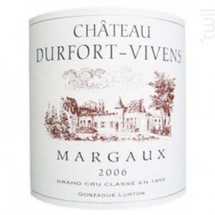 Château Durfort-Vivens - Château Durfort-Vivens - 2006 - Rouge