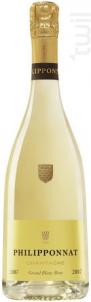 Grand Blanc Brut Millésimé - Champagne Philipponnat - 2007 - Effervescent