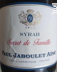 Secret de Famille - Syrah - Paul Jaboulet Aîné - 2018 - Rouge