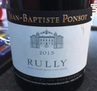 Rully - Jean-Baptiste Ponsot - 2016 - Rouge