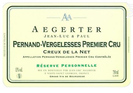 Pernand-Vergelesses 1er Cru Creux de la Net - Jean Luc et Paul Aegerter - 2014 - Blanc