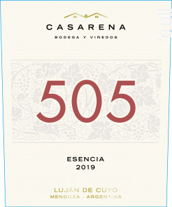 505 - ESENCIA MALBEC, CABERNET SAUVIGNON, MERLOT - Casarena - 2018 - Rouge