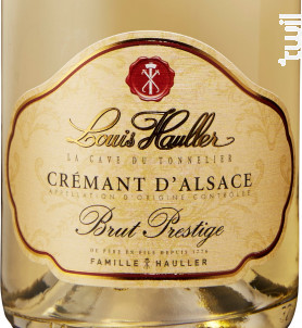 Crémant d'Alsace Blanc Brut Prestige - Domaine Louis Hauller - Non millésimé - Effervescent