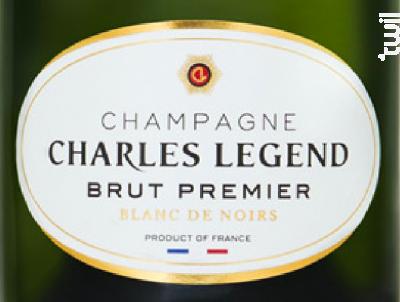 Brut Premier - Blanc de Noirs - Champagne Charles Legend - Non millésimé - Effervescent