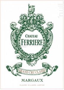 Château Ferrière - Domaines Claire Villars Lurton - Château Ferrière - 2017 - Rouge