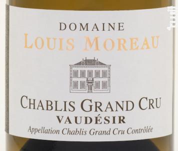 Chablis Grand cru Vaudésir - Domaine Louis Moreau - 2011 - Blanc