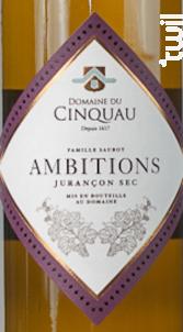 Ambitions - Domaine du Cinquau - 2016 - Blanc
