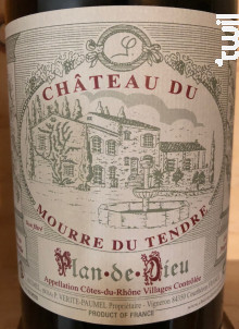 Plan de Dieu Cuvée Jacques Paumel - Château du Mourre du Tendre - 2016 - Rouge