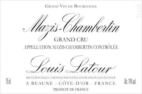 Mazis-Chambertin Grand Cru - Maison Louis Latour - 2008 - Rouge