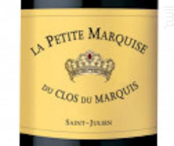 Petite Marquise - Clos du Marquis - 2015 - Rouge