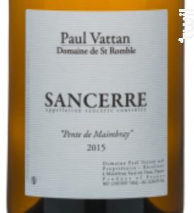 Sancerre Pente de Maimbray - Domaine de Saint Romble-Paul Vattan - 2017 - Blanc