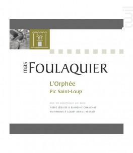 L'Orphée - Mas Foulaquier - 2016 - Rouge