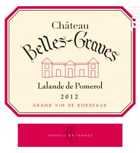 Château Belles-Graves - Château Belles-Graves - 2012 - Rouge