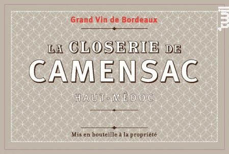 La Closerie de Camensac - Château de Camensac - 2015 - Rouge