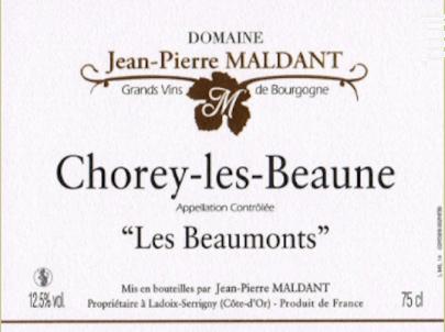 Chorey-les-beaune - Domaine Maldant Jean-Pierre - 2017 - Blanc