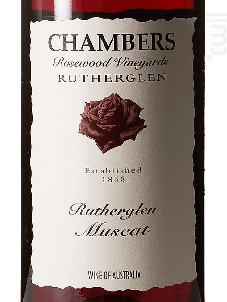 RUTHERGLEN MUSCAT - CHAMBERS ROSEWOOD - Non millésimé - Rouge