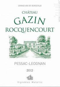Gazin Rocquencourt Blanc - Château Gazin Rocquencourt - 2012 - Blanc