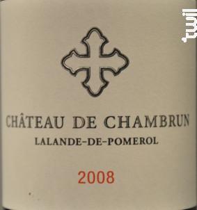 Château de Chambrun - Château de Chambrun - 2008 - Rouge