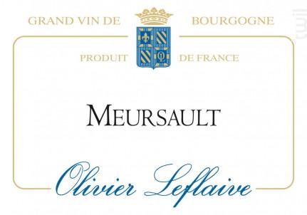 Meursault - Maison Olivier Leflaive - 2015 - Blanc