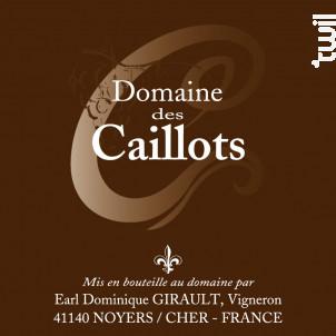 TOURAINE  Sauvignon - Domaine des Caillots - 2018 - Blanc