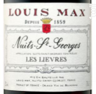 Nuits Saint-Georges - Les Lièvres - Louis Max - 2013 - Rouge