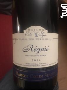 Regnie - Terroir - Maison Colin Seguin - 2018 - Rouge