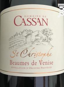 Beaumes de Venise St-Christophe - Domaine de Cassan - 2014 - Rouge