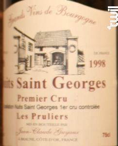 cuvée les Pruliers - Domaine Jean-claude Guyaux - 1998 - Rouge
