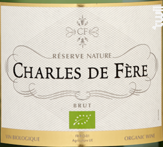 Réserve Nature Bio - Charles De Fère - Non millésimé - Effervescent