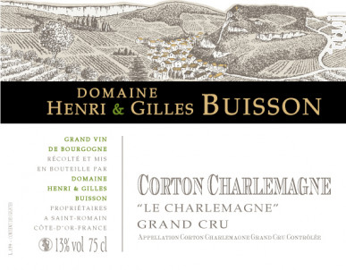 Corton-Charlemagne Grand Cru Le Charlemagne - Domaine Henri & Gilles Buisson - 2017 - Blanc