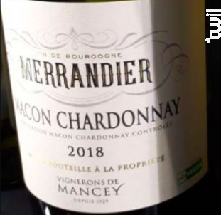 Mâcon-Chardonnay - Vignerons De Mancey - 2018 - Blanc