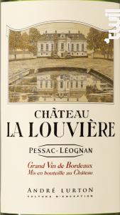 Château La Louvière - Vignobles André Lurton- Château la Louvière - 2014 - Blanc