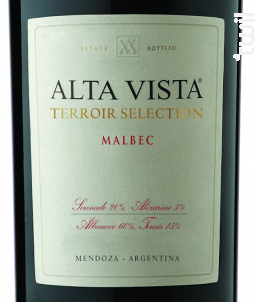 Alta Vista Terroir Sélection - Alta Vista - 2017 - Rouge