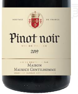 Maurice Gentilhomme Pinot Noir - Maison Maurice Gentilhomme - 2019 - Rouge