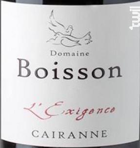 L'Exigence - Domaine Boisson - 2017 - Rouge