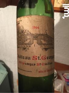 Château Saint Georges - Château Saint Georges - Famille Desbois - 1964 - Rouge